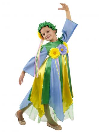Карнавальный костюм Весна детский для девочки