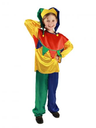 Карнавальный костюм Скоморох детский для мальчика