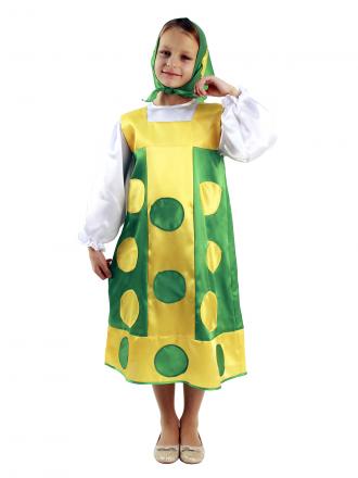 Карнавальный костюм Матрешка детский для девочки