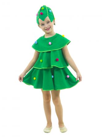Карнавальный костюм Елочка детский для девочки