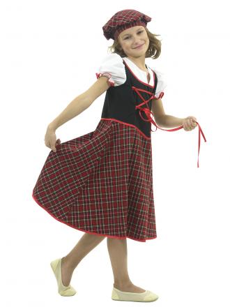 Карнавальный костюм Шотландка детский для девочки