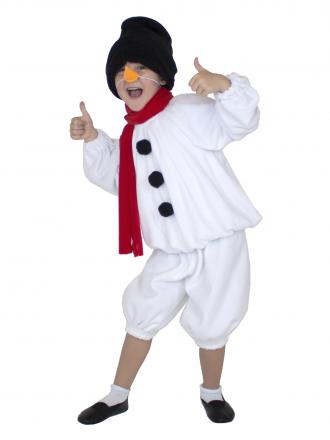 Детский карнавальный костюм Снеговичок для мальчика