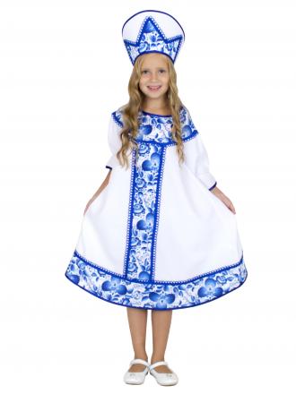 Карнавальный костюм Гжель хороводная для девочки