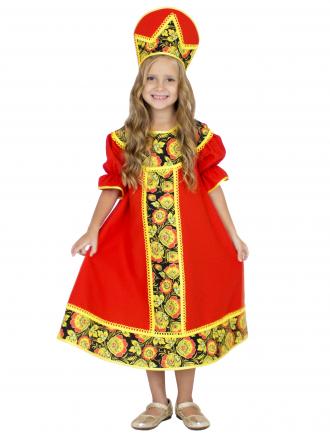 Карнавальный костюм Хохлома детский для девочек