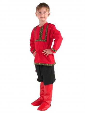 Рубаха фольклорная льняная детская для мальчика