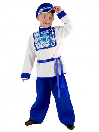 Карнавальный костюм Гжель для мальчика