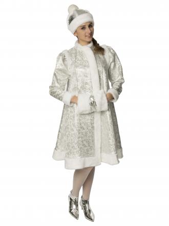 Карнавальный костюм Снегурочка серебряная
