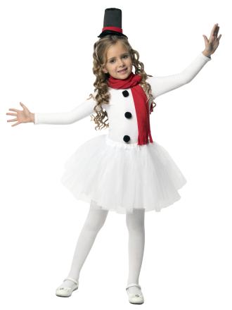 Детский карнавальный костюм Снеговик Девочка