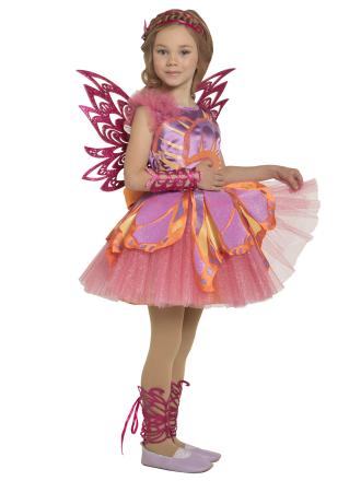 Карнавальный костюм Фея Стелла Винкс детский для девочки