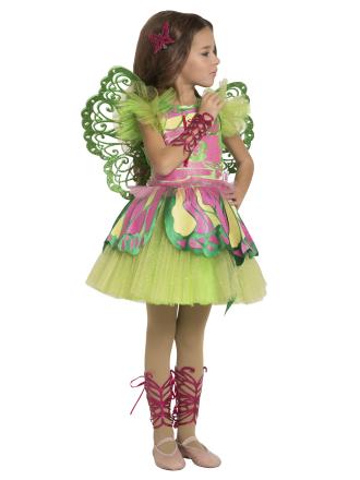Карнавальный костюм Фея Винкс Флора детский для девочки