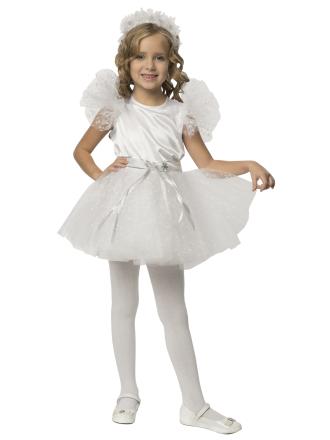 Карнавальный костюм Снежинка белоснежная детский для девочки