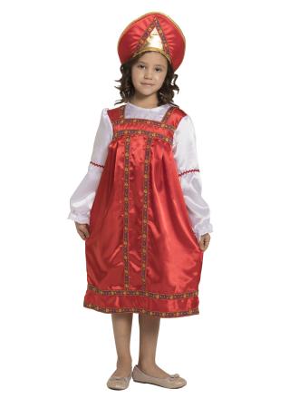 Русский народный костюм Василиса детский для девочки