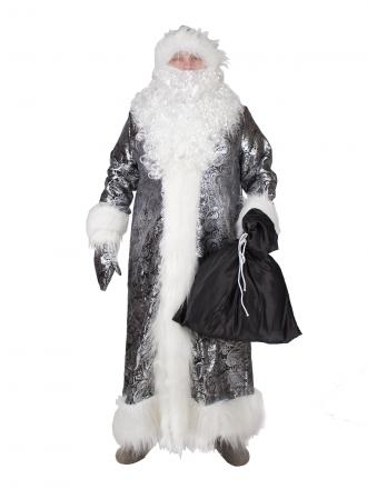 Карнавальный костюм Дед Мороз жаккардовый черный