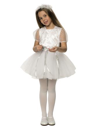 Карнавальный костюм Снежинка хрустальная детский для девочки