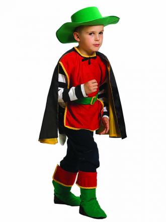 Карнавальный костюм Кота в сапогах детский для мальчика